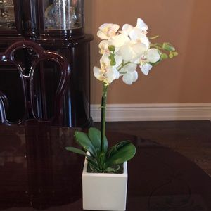Other - Faux white orchid plant